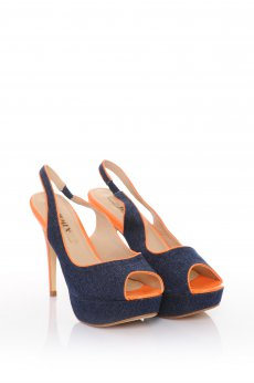 Sandale Denim Look Orange