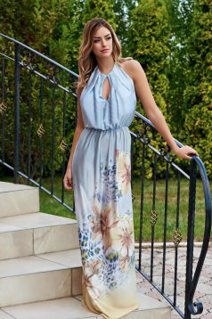 Mexton Paradise Flower Blue Dress