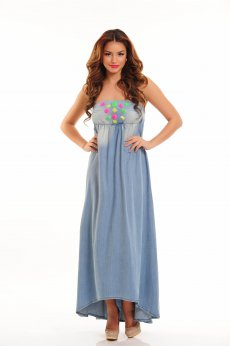 Mexton Bright Candy Blue Dress