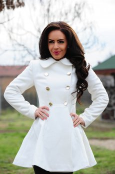 Palton LaDonna Fashion Journey White