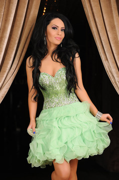 Sherri Hill Fabulous Celebration Green Dress