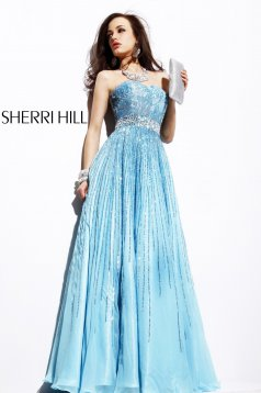 Sherri Hill 8437 LightBlue Dress