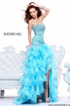 Sherri Hill 21127 Aqua Dress