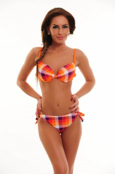 Summer Square Orange Swimsuit