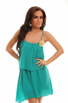 Rochie PrettyGirl Rose Turquoise