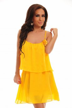 PrettyGirl Rose Yellow Dress