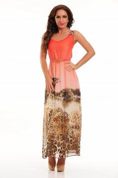 LaDonna Tropical Forest Coral Dress