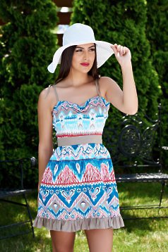 Fofy Sunny Days Turquoise Dress