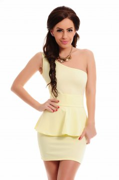 BB Peplum Style Yellow Dress