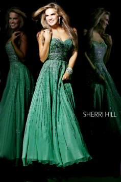 Sherri Hill 8437 Green Dress