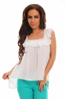 Fofy Heat Emotion White Blouse