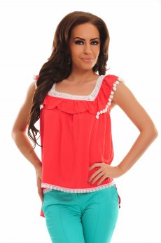 Fofy Heat Emotion Coral Blouse