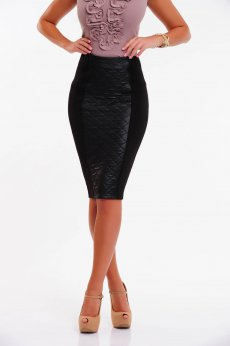 Fofy Chic Flavour Black Skirt