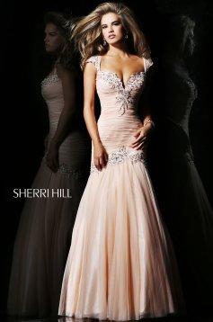 Sherri Hill 21069 Peach Dress