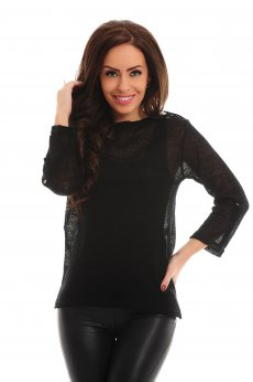 PrettyGirl Viva Chic Black Blouse