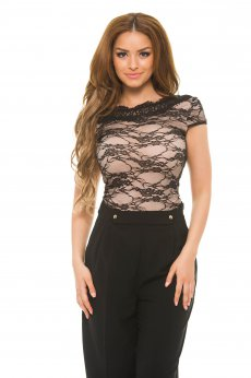 Body Fofy Lovely Lace Black