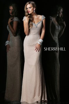 Sherri Hill 1541 Nude Dress