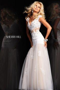 Sherri Hill 21012 White Dress
