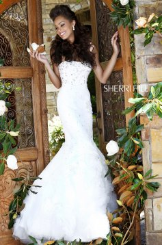 Sherri Hill 21014 White Dress