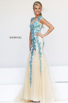 Sherri Hill 1927 Turquoise Dress