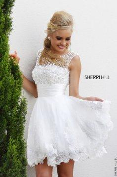 Sherri Hill 4302 White Dress