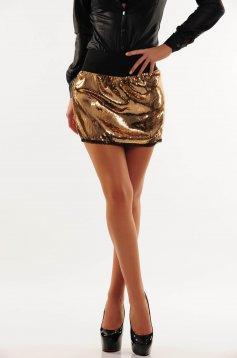 PrettyGirl Sparkling Gold Skirt