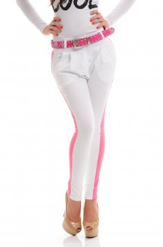 Mexton Blinding Look White Trousers
