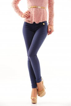 Fofy Royal Pattern DarkBlue Tights