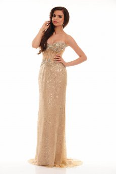 Sherri Hill 21172 Nude Dress