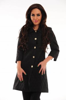 LaDonna Sheer Emotion Black Trechcoat