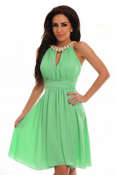 Rochie LaDonna Flaming Pearls Green