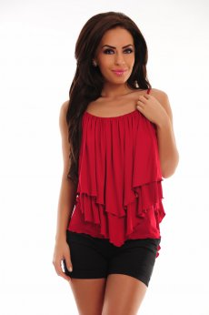 PrettyGirl Huge Bliss Burgundy Top Shirt