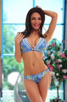 Costum De Baie Summer Bloom Blue