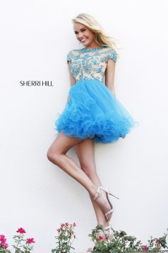 Sherri Hill 21304 Blue Dress
