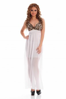 Rochie MissQ Animal Rush White