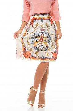 PrettyGirl Eloquent White Skirt