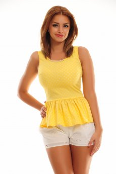 PrettyGirl Covered Yellow Blouse
