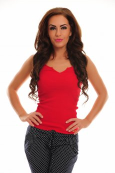 Fofy Subtle Temptation Red Top Shirt