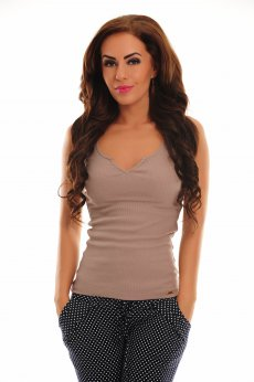 Fofy Subtle Temptation Brown Top Shirt