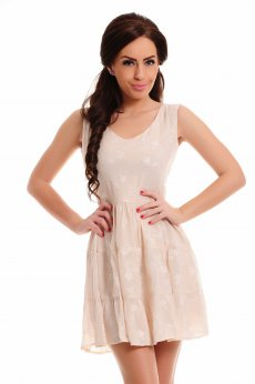 LaDonna Delicate Shades Cream Dress