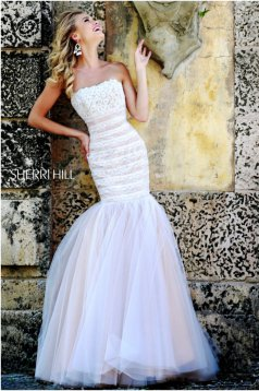 Sherri Hill 11154 White Dress