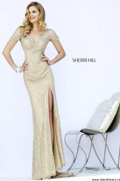 Sherri Hill 32019 Nude Dress