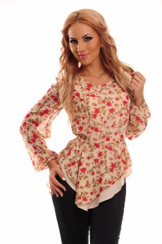 LaDonna Crowded Cover Peach Blouse