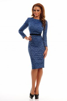 Rochie StarShinerS Baroque Long Blue