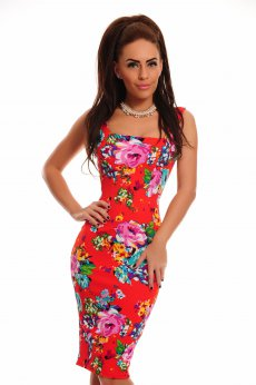 Rochie Fofy Colorful Fantasy Red