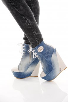 Botine Mexton One Step Blue
