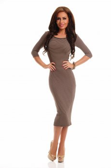 Rochie Artista Contagious Notes Brown