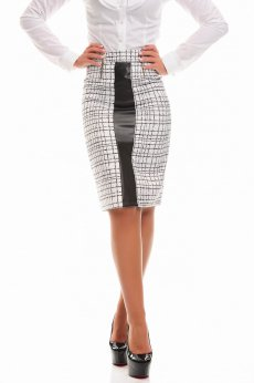 LaDonna Captivant Mode White Skirt