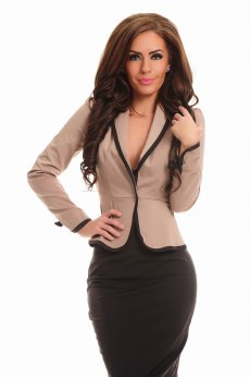 Fofy Elegant Waist Brown Jacket