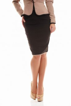 Fofy Classic Course DarkBrown Skirt